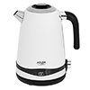 SS satin white kettle 1,7L with LCD display & temperature regulation Adler AD 1295w