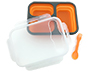 Lunchbox silicone container 3-compartment  Adler AD 6708