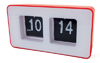 Clock - auto-flip Camry CR 1131 red